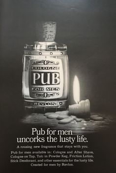 1968 print ad for pub cologne.