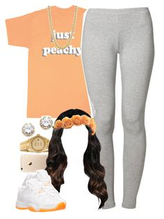 """Just peachy"" by lulu-foreva ❤ liked on Polyvore featuring Rolex, Just Peachy, adidas Originals, Retrò and Kenneth Jay Lane"