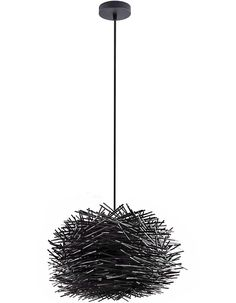 Cabana Black Wood Pendant Light Small - Chic Chandeliers