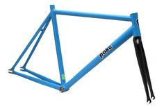 bicycle parts: Pake French 75 Steel Track Bike Fixed Gear Frame And Carbon Fork Frameset 61Cm BUY IT NOW ONLY: $299.0