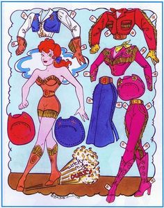 Larry Bassin's Paper dolls* 1500 paper dolls at International Paper Doll Society by artist Arielle Gabriel #ArtrA #QuanYin5 Linked In QuanYin5 Twitter *