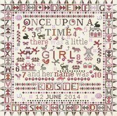 Buy Once Upon a Time Girl Cross Stitch Kit Online at www.sewandso.co.uk