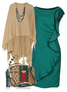 """""""~~ WEAR IT IN GREEN ~~"""" by queenofthegypsies ❤ liked on Polyvore featuring Madeleine Thompson, Gucci, Marni, Michael Kors and Belsi's Collection"""