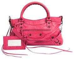 Pink Balenciaga, Balenciaga City Bag, Cuir Rose, Duffel Bag, Pink Leather, Cute Shoes, Leather Shoulder Bag, Leather Handbags, Satchel