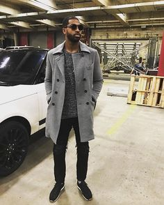 Instagram media by upscalehype - #TristanThompson wears a #BillyReid coat, #Ch sweater, #Amiri jeans, #TomFord sneakers, #JeanPaulGaultier shades and a #Cartier chain. Link in bio for more info and pics.