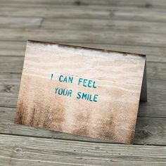 Valentine's Day Card - I Can Feel Your Smile Romantic Love Note by EyeshootPhotography, £2.00