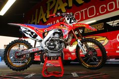 Honda CRF 450 Team Chapparal Honda Andrew Short Supercross 2013