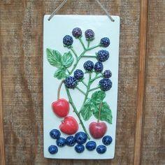 Decorative Ceramic Kitchen Tile  Summer by FarRidgeCeramics, $35.00