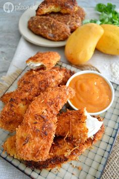 Pollo al coco con salsa de mango y chipotle (receta fácil)