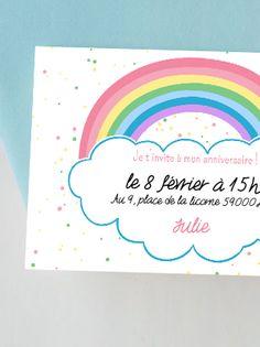 Avec cette petite carte colorée le ton est donné ! On vient avec sa ou ses couleurs préférées pour un anniversaire arc-en-ciel digne de ce nom !