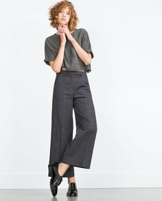 Image 1 of BELL nBOTTOM TROUSERS from Zara