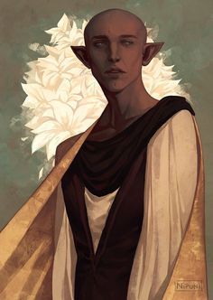 "Nipuni on Twitter: ""and back to more drawings of him ☺️ #dragonage #DragonAgeInquisition #solas #illustration… """