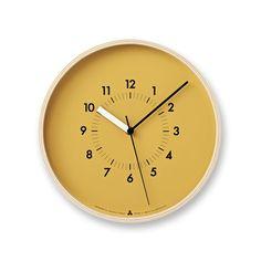 SOSO Clock in Orange design by Lemnos Orange Clocks, Kitchen Clocks, Wall Clock Design, Clock Wall, Orange Design, Clock Decor, Diy Clock, Wooden Clock, Burke Decor