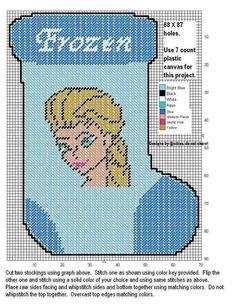 ELSA * FROZEN STOCKING by DESIGNS BY @NDREA