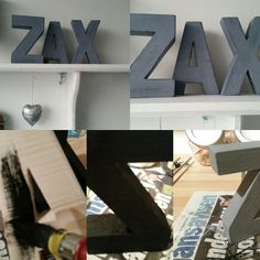 Making decorative letters from wood Workshop, Loft, Letters, Bed, How To Make, Furniture, Decoration, Home Decor, Creative Crafts