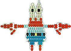 SpongeBob Mr. Krabs pony bead pattern Pony Bead Projects, Pony Bead Crafts, Seed Bead Crafts, Beaded Crafts, Pony Bead Animals, Beaded Animals, Pony Bead Patterns, Beading Patterns, Stitch Patterns