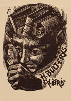 Art-exlibris.net - exlibris by Frank-Ivo Van Damme for Hendrik Bulterys