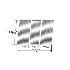 Stainless Steel Cooking Grid fits Charbroil BBQ Pro IGS and Outdoor Gourmet Members Mark Omaha Grill Set of 3 Charbroil Bbq, Bbq Galore, Bbq Pro, Grill Parts, Weber Grill, Grill Accessories, Vermont, Grid, Grilling