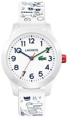 Lacoste Kids 12.12 Print Silicone Strap Watch, 32mm