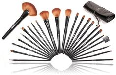 Shany Studio Quality Natural Cosmetic Brush Set with Leather Pouch 24 Count by SHANY Cosmetics new 1695 3 used new from the Most Wished For in Makeup list for authoritative information on this products current rank Beauty Supply Warehouse, Beauty Supply Store, It Cosmetics Brushes, Makeup Brushes, Mac Brushes, Makeup Tools, Makeup Ideas, Php, Cosmetic Brush Set