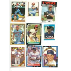 HUGE 40 + different GARY GAETTI cards lot 1983 - 1997 Twins Angels Cardinals Listing in the 1980-1989,Lots,MLB,Baseball,Sports Cards,Sport Memorabilia & Cards Category on eBid United States   147730317