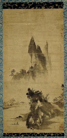 Sesshu - Paisaje en tinta salpicada