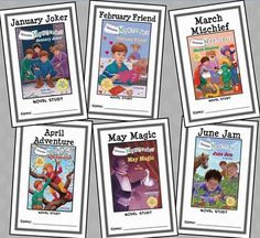 Calendar Mysteries: January thru June BUNDLE (Ron Roy) 6 Novel Studies * Follows the Common Core Standards *  This Calendar Mysteries BUNDLE contains six Novel Studies from the Calendar Mysteries series by Ron Roy. In total, there are 158 pages. Each Novel Study is in booklet-style PDF format.  This download includes Novel Studies for 6 books from Ron Roy's Calendar Mysteries series: January Joker February Friend March Mischief April Adventure May Magic June Jam