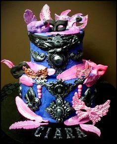 Mardi Gras Cake ~ Custom-Made-To-Order Cakes & Desserts www.sumptuoustreats.com