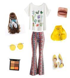 """Hippie girly"" by gonzalezmicaela ❤ liked on Polyvore featuring Fashionomics, Talbots, VANINA, LMNT and MAC Cosmetics"