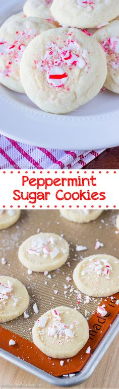 Peppermint Sugar Cookies- a Christmas cookie recipe everyone loves!