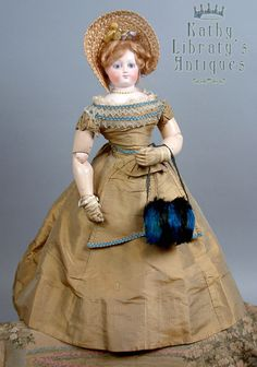 Remarkable C. 1860 Poupee Huret Muff of Peacock and Coque Feathers In Mint Condition