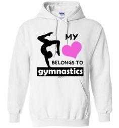 My Heart Belongs to Gymnastics Hoodie (Youth & Adult Sizes)