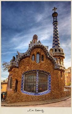 Gaudí Gingerbread House, Park Güell, Barcelona, Spain by Ken Kaminesky
