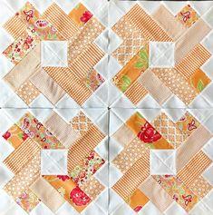 Orange blocks for this week's #ombregemsquiltalong! . . #bonnieandcamille #ombregemsquilt #quiltylove #quiltylovepatterns