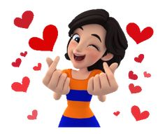 Blink Blink by Bangkok Bank Funny Cartoon Gifs, Cute Cartoon Pictures, Cute Love Cartoons, Bisous Gif, Gif Bonito, Gif Lindos, Gif Mania, Happy Birthday Video, Emoji Images