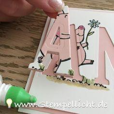 Buchstabenkarte - Floating Letters Card - Anleitung