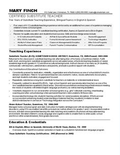 sample teacher resumes substitute teacher resume sample teacher resumes free job resumes