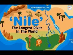 The Nile is a river in Africa. It is the longest river on Earth (about km or miles), and flows into the Mediterranean Sea near Alexandria. Ancient Egypt Lessons, Ancient Egypt For Kids, Ancient Aliens, Ancient Greece, Teaching Kids, Kids Learning, 6th Grade Social Studies, Magic Treehouse, Facts For Kids
