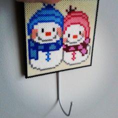 Snowmen hama beads by mi_armario_de_papel