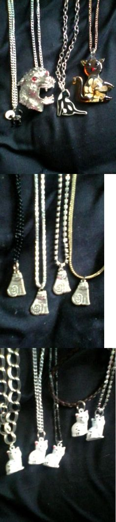 Mixed Lots 64511: 13 Cat Necklaces -> BUY IT NOW ONLY: $75.0 on eBay!