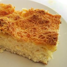 Τυρόπιτα με φύλλο κανταΐφι    (Greek cheese pie) Greek Desserts, Greek Recipes, Desert Recipes, Greek Meze, Greek Pita, Chef Recipes, Cooking Recipes, Greek Cooking, Greek Dishes