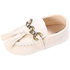 Coper Baby Infant Girl Cute Slip On Comfort Shoes Loafers Soft Crib Walker (Beige, 12~18 Month)