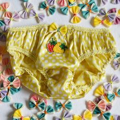 50c71415f6229 Yuzu Strawberries Knickers - Lingerie - Panties - Embroidery - Kawaii -  Embroidered - Gift for Her - Gift for Women - Present
