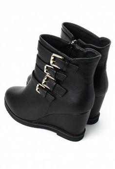 Black Ankle High Boots.