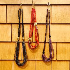 Multi strand assorted beads necklaces of various lengths. These go very well with both western wear and traditional #littlewildthings #handmadejewelry #soumyaprakash #handmadenecklace #necklaces #officewear #jewelrymaking
