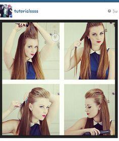 Tutorials diy hair fox hairstyle hairstyles cute funky lookin straight hair long hair poof