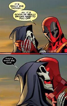 Deadpool & Death (a perfect match)!