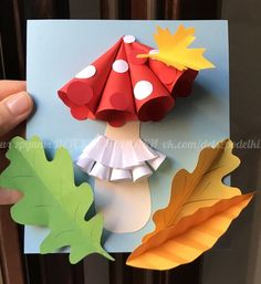 Детские осенние поделки из бумаги Гриб мухомор осень paper craft for kids autumn fall mushroom lavoretti autunno cheapfallcraftsforkids Fall Paper Crafts, Fall Arts And Crafts, Autumn Crafts, Fall Crafts For Kids, Kids Crafts, Art For Kids, Diy And Crafts, Diy Paper, Sac Halloween