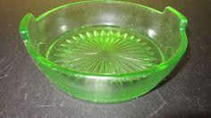 VTG Uranium Vaseline Green Depression Glass Candy Nut Dish Bowl  | Pottery & Glass, Glass, Glassware | eBay!