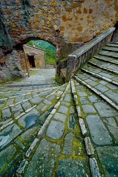 Stairs, Pitigliano, Tuscany, Italy photo via stacey Oh The Places You'll Go, Places To Travel, Places To Visit, Siena Toscana, Beautiful World, Beautiful Places, Beautiful Stairs, Stairway To Heaven, Tuscany Italy